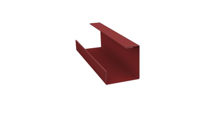 Планка угла внутреннего составная нижняя 0,45 PE с пленкой RAL 3009