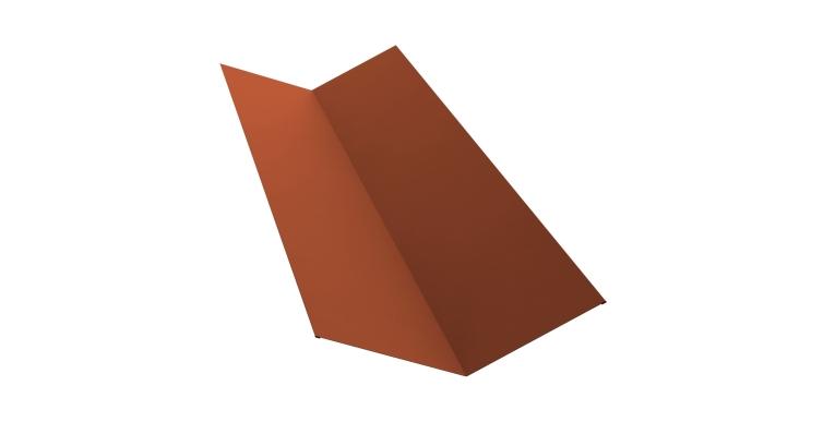 Планка ендовы верхней 145х145 0,5 Satin с пленкой RAL 8004