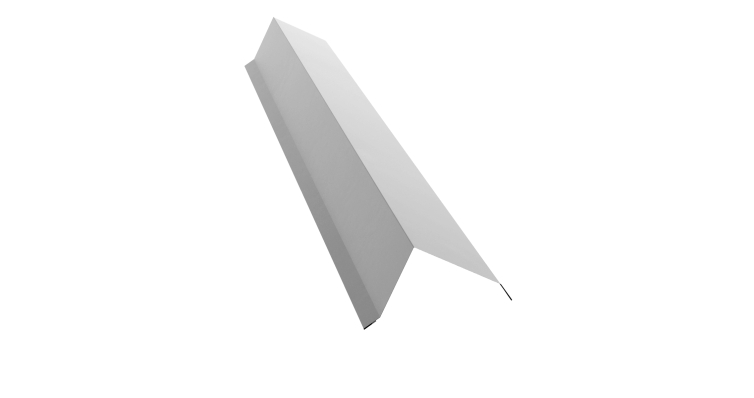 Планка торцевая 100х80 0,5 Satin с пленкой RAL 9003