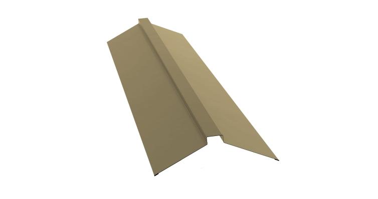 Планка конька плоского 115х30х115 0,45 PE с пленкой RAL 1014