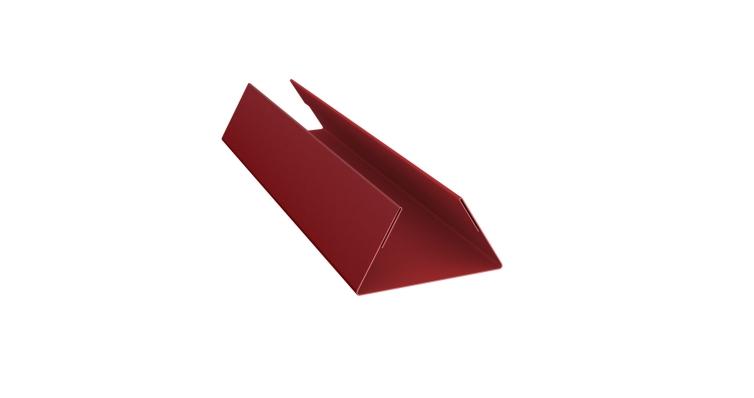 Планка стыковочная составная нижняя 0,45 PE с пленкой RAL 3011