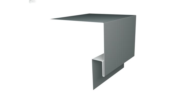 Планка околооконная сложная 250х50 (j-фаска) 0,45 PE с пленкой RAL 7005