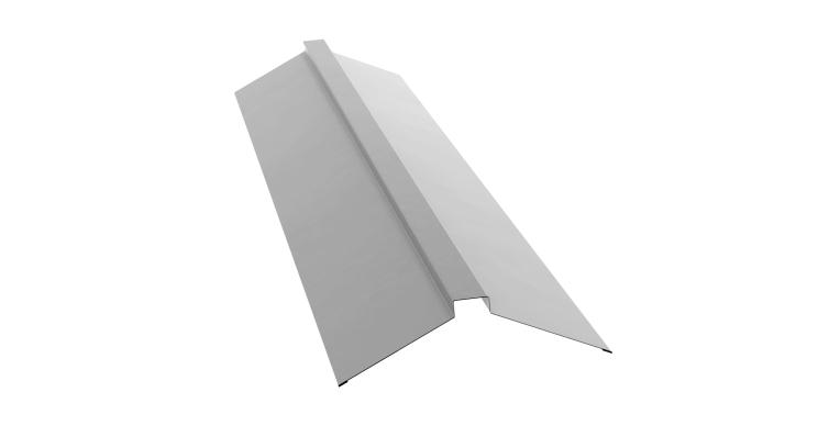 Планка конька плоского 115х30х115 0,5 Satin с пленкой RAL 9003