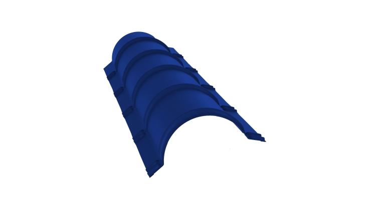 Планка конька полукруглого 0,45 PE с пленкой RAL 5002