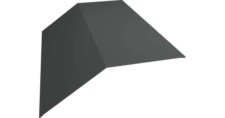 Планка конька плоского 145х145 0,45 PE с пленкой RAL 7005