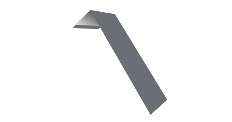 Планка лобовая/околооконная простая 190х50 0,45 PE с пленкой RAL 9006