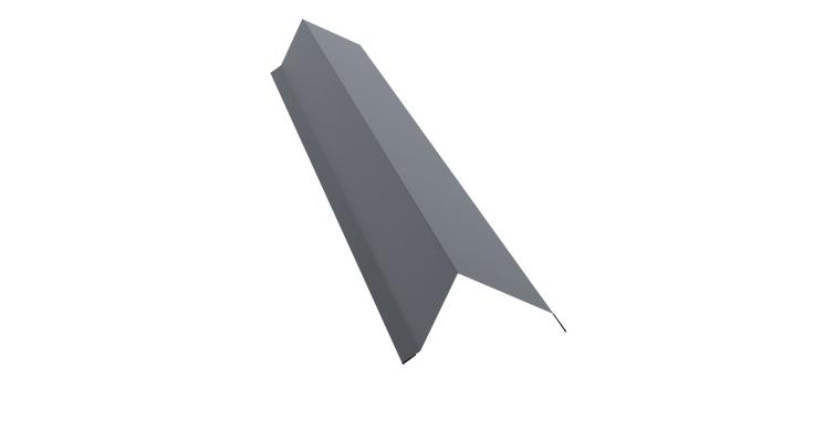 Планка торцевая 100х80 0,45 PE с пленкой RAL 9006