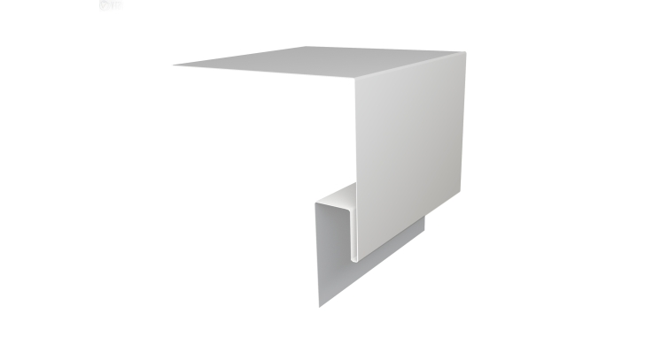 Планка околооконная сложная Блок-хаус GL 200х75 0,45 PE с пленкой RAL 9003