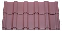 Металлочерепица Kvinta в покрытии Velur®20, цвет RAL 3005