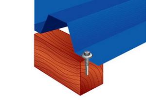 Крепление профильного листа металла к деревянным конструкциям