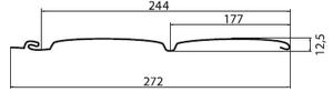 Виниловый сайдинг «Блок-хаус» D4,8 Grand Line® AMERIKA