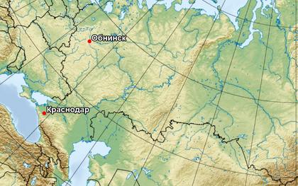 Карта испытательных полигонов