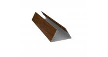 Доборные элементы (Блок-хаус/ЭкоБрус) Grand Line Планка стыковочная составная нижняя