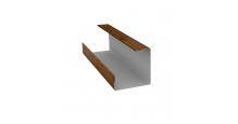 Доборные элементы (Блок-хаус/ЭкоБрус) Grand Line Планка угла внутреннего составная нижняя