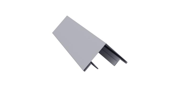 Планка угла внешнего составная верхняя 0,45 PE с пленкой RAL 7004