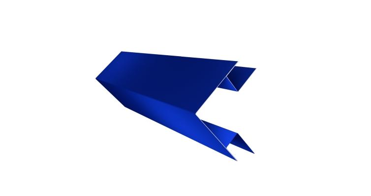 Угол внешний сложный 75х75 0,45 PE с пленкой RAL 5002 ультрамариново-синий