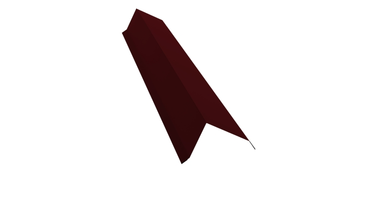 Планка торцевая 100х80 0,5 Satin с пленкой RAL 3005