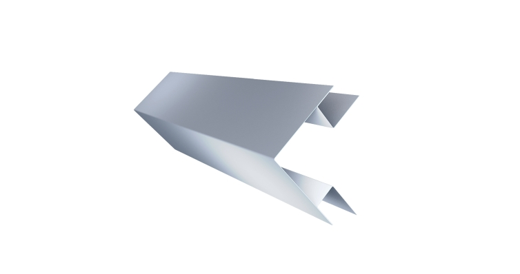 Угол внешний сложный 75х75 0,45 PE с пленкой RAL 9006 бело-алюминиевый