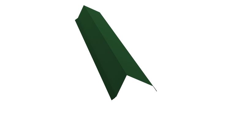 Планка торцевая 100х80 0,5 Satin с пленкой RAL 6005
