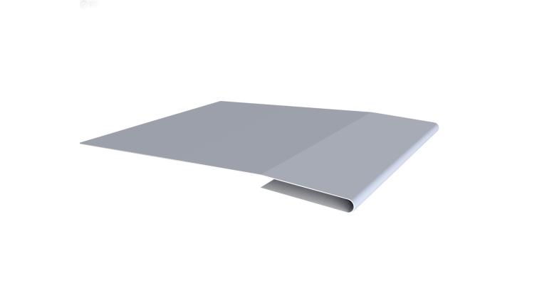 Планка начальная 0,45 PE с пленкой RAL 9006 бело-алюминиевый