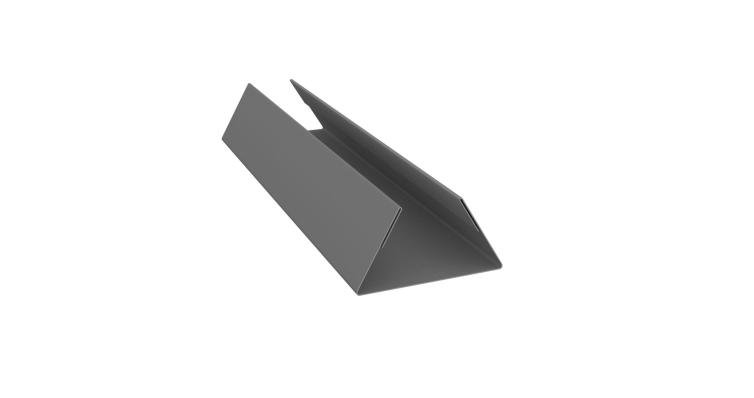 Планка стыковочная составная нижняя 0,45 PE с пленкой RAL 9006