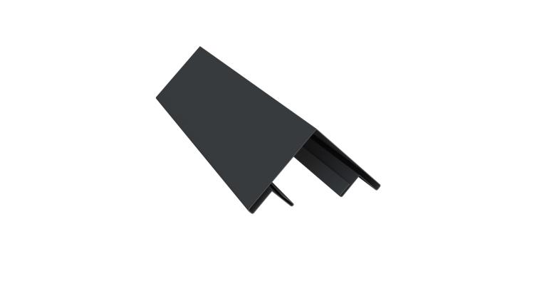 Планка угла внешнего составная верхняя 0,5 Satin с пленкой RAL 7024