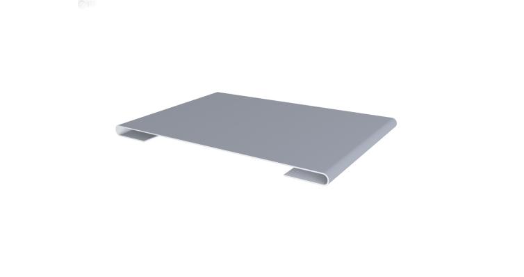 Планка стыковочная 0,45 PE с пленкой RAL 9006 бело-алюминиевый
