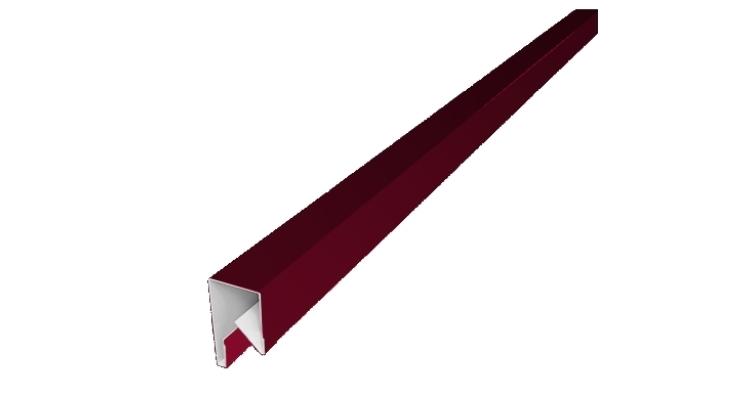 Планка П-образная заборная 17 0,45 PE с пленкой RAL 3003