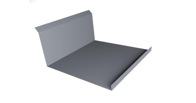 Планка примыкания нижняя 20х122х260х15 0,45 PE с пленкой RAL 9006