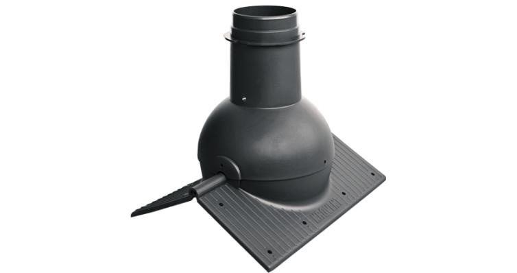 Коньковый элемент Krovent Pipe-Cone черный