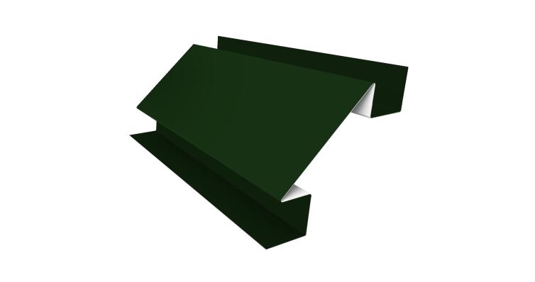 Угол внутренний сложный 75мм 0,5 Satin с пленкой RAL 6005