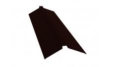 Планка конька плоского 115х30х115 0,5 Satin Мatt RR 32 темно-коричневый