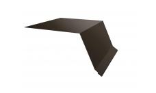 Планка капельник 100х55 0,5 Satin Мatt RR 32 темно-коричневый