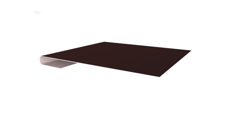 Планка завершающая 0,45 PE с пленкой RAL 8017 шоколад
