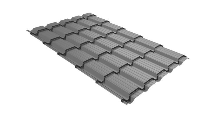 Металлочерепица квадро 0,45 PE RAL 9006
