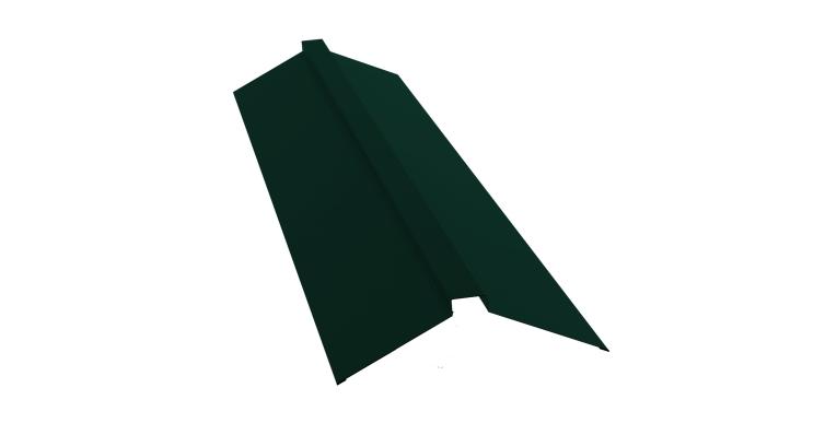 Планка конька плоского 115х30х115 0,7 PE с пленкой RAL 6005