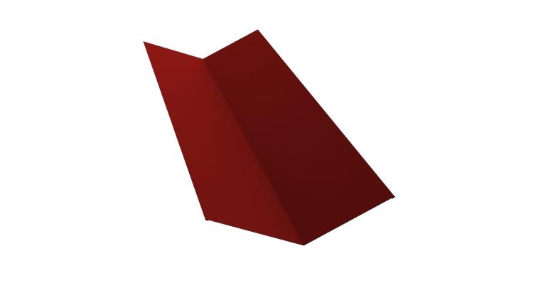 Планка ендовы верхней 145х145 0,5 Satin с пленкой RAL 3011