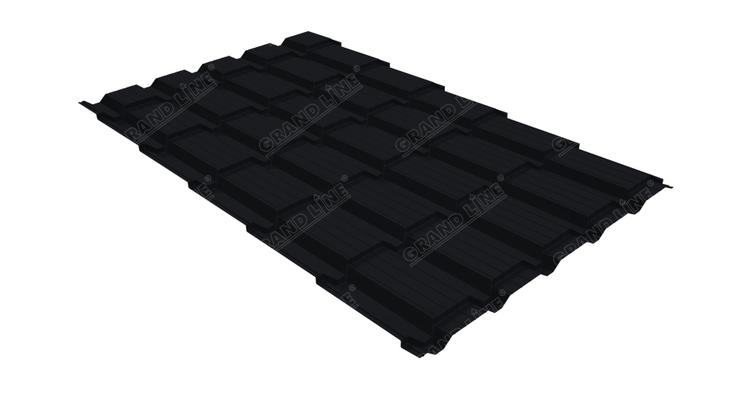 Металлочерепица квадро GL 0,5 Velur20 RAL 9005