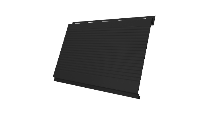Вертикаль 0,2 Grand Line gofr 0,5 Velur20 с пленкой RAL 9005 черный