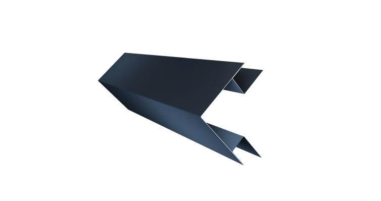 Планка угла внешнего сложного Экобрус 0,5 Satin с пленкой RAL 7024