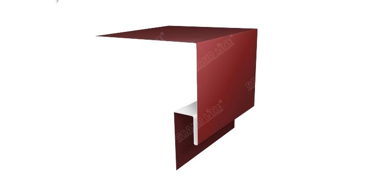 Планка околооконная сложная 250х50 (j-фаска) 0,45 PE с пленкой RAL 3009