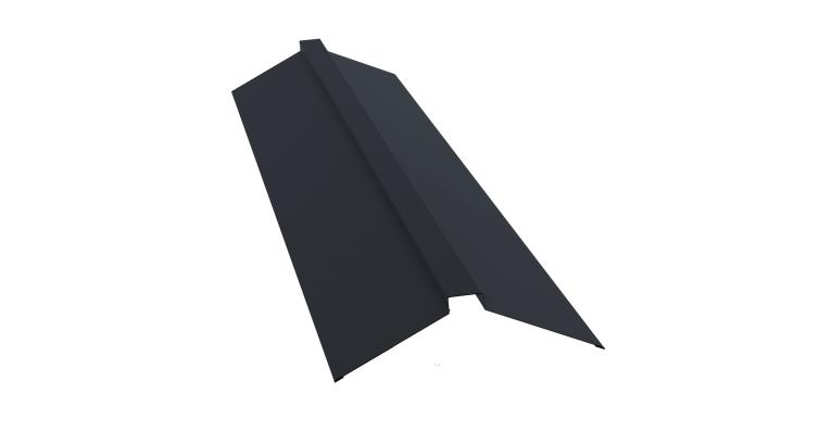 Планка конька плоского 115х30х115 0,5 Quarzit lite с пленкой RAL 7024