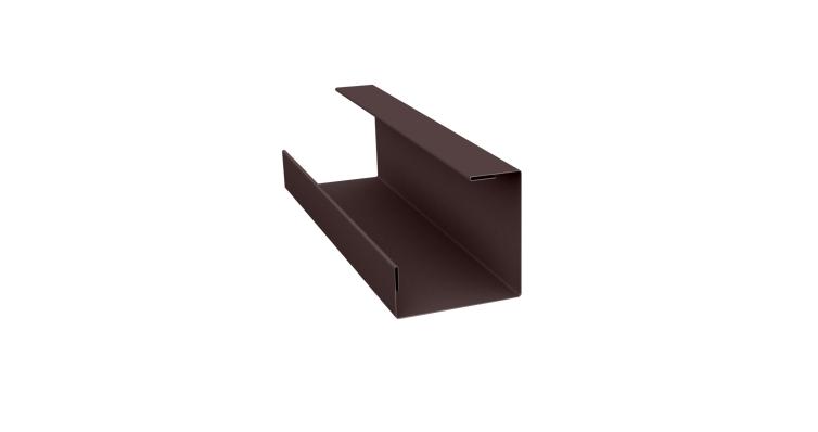 Планка угла внутреннего составная нижняя 0,45 PE с пленкой RAL 8017