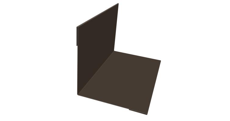 Планка угла внутреннего 110х110 0,45 PE с пленкой RR 32 темно-коричневый