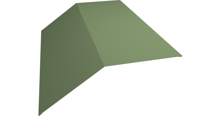Планка конька плоского 145х145 0,45 PE с пленкой RAL 6019