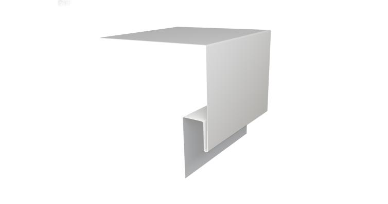 Планка околооконная сложная Блок-хаус GL 250х75 0,5 Satin с пленкой RAL 9003