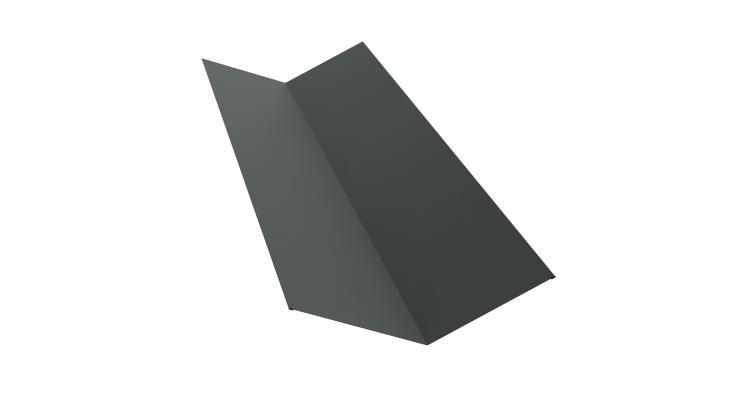 Планка ендовы верхней 145х145 0,45 PE с пленкой RAL 7005