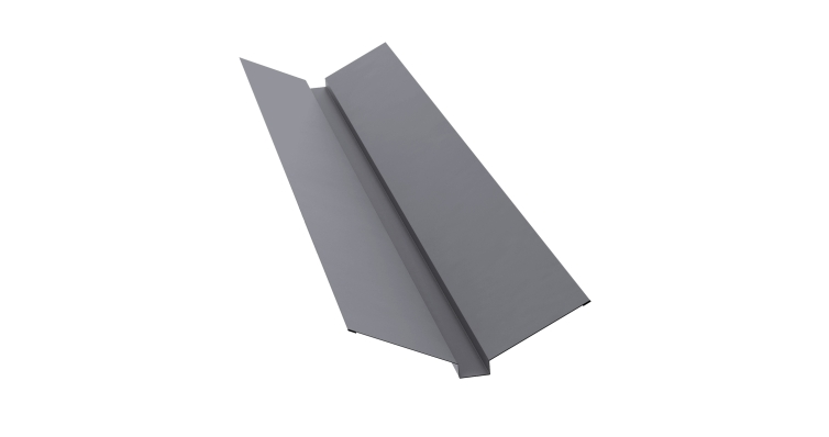 Планка ендовы верхней 115х30х115 0,5 Satin с пленкой RAL 7004