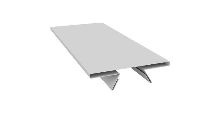 Планка стыковочная составная верхняя 0,5 Satin с пленкой RAL 9003