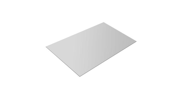 Плоский лист 0,45 PE с пленкой RAL 9003 сигнальный белый